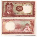 Banconote Vietnam Pick numero 19 - 100 Dong