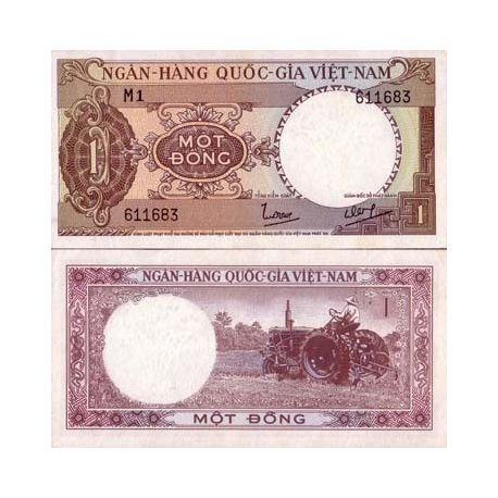 Billets de banque Vietnam Sud Pk N° 15 - 1 Dong