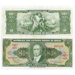 Los billetes de banco Brasil Pick número 183 - 10 Cruzeiro 1966