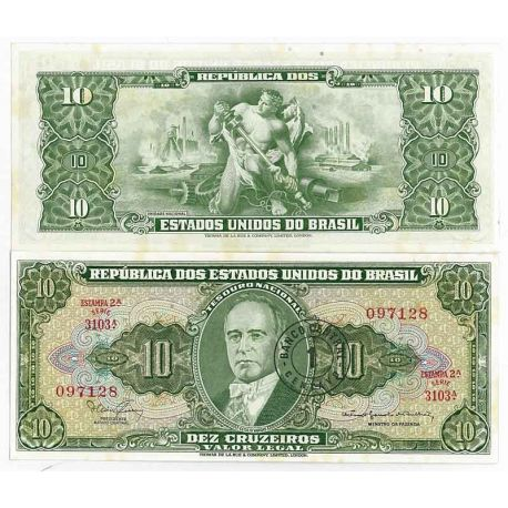 Bresil - Pk N° 183 - Billet de 10 Cruzeiro