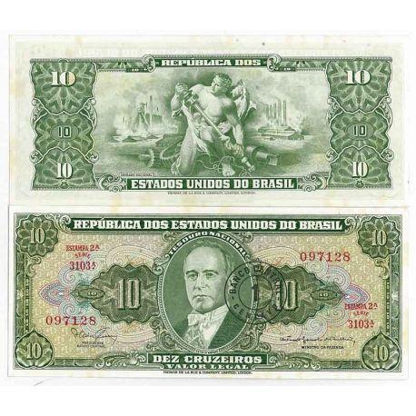 Billet de banque Bresil Pk N° 183 - 10 Cruzeiro
