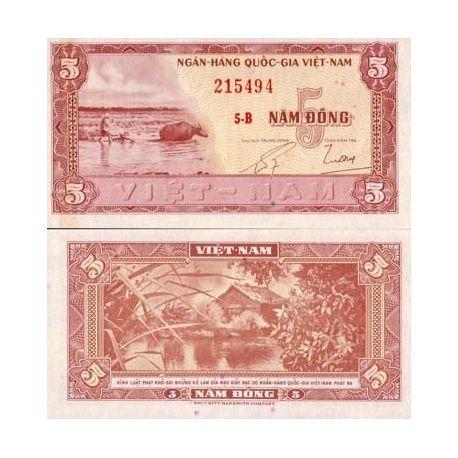 South Vietnam - Pk No. 13 - 5 ticket Dong