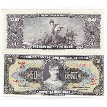 Billets de banque Bresil Pk N° 184 - 50 Cruzeiro