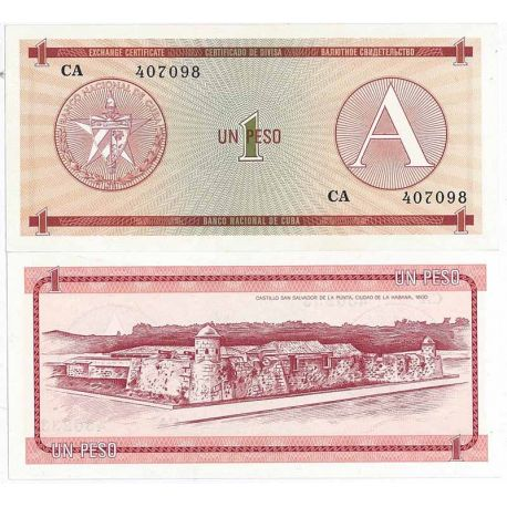 Billets de collection Billets collection Cuba Pk N° 1 - 1 Pesos Billets de Cuba 2,50 €