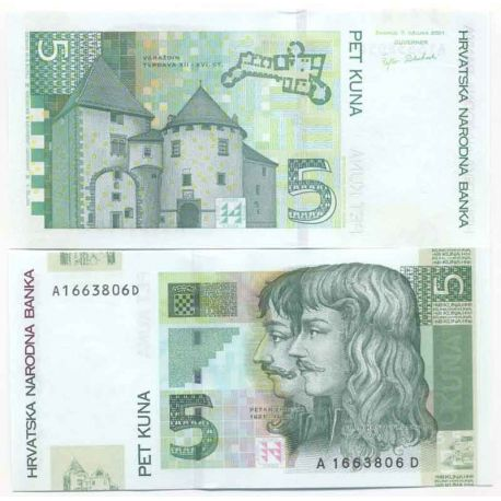 Croatie - Pk N° 37 - Billet de 5 Kuna