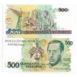 Colección Billetes Brasil Pick número 230 - 500 Cruzeiro 1990