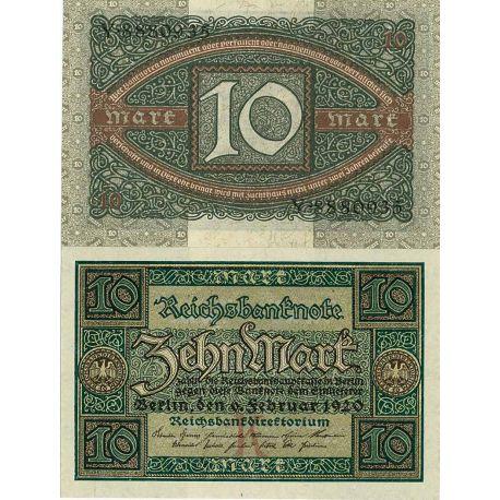 Billets de banque Allemagne Pk N° 67 - 10 Mark