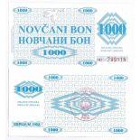 Schone Banknote Bosnien Pick Nummer 8 - 1000 Dinara 1992