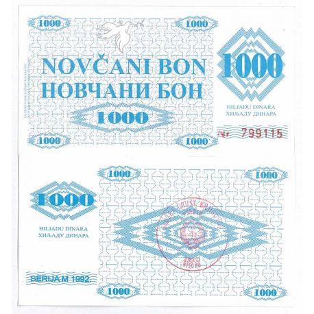 Billets de collection Billets banque Bosnie Pk N° 8 - 1000 Dinara Billets de Bosnie 8,00 €