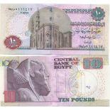 Billet de collection Egypte Pk N° 64 - 10 Pound