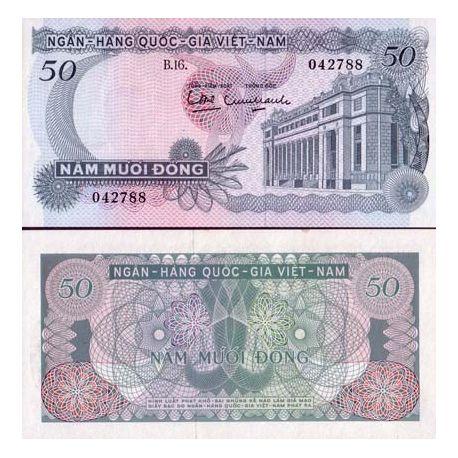 Billets banque Vietnam Sud Pk N° 25 - 50 Dong
