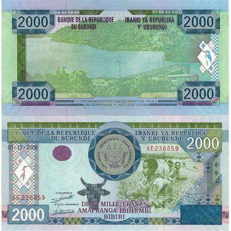 Burundi - Pk N° 47 - Billet de 2000 Francs