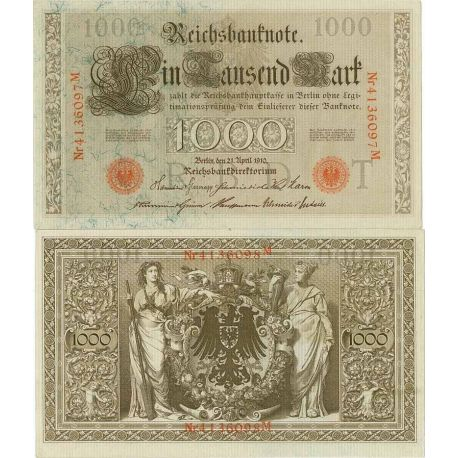 Billet de banque Allemagne Pk N° 44 - 1000 Mark