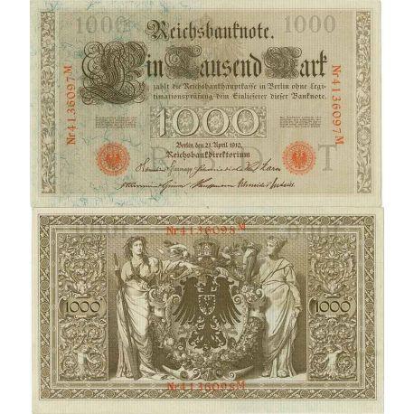Allemagne - Pk N° 44 - Billet de 1000 Mark