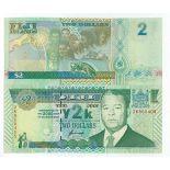 Banknoten Fiji Pick Nummer 102 - 2 Dollar 2000