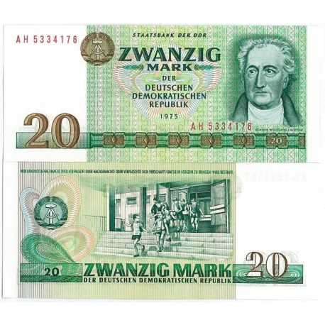 Billet de collection de 20 Mark - Billet de banque Allemagne Est Pk N° 29