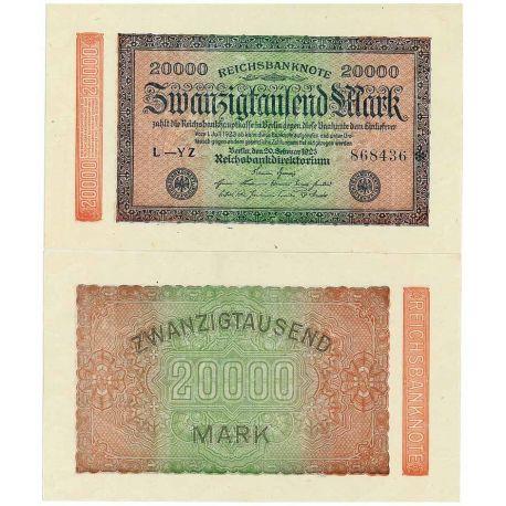 Billet de banque Allemagne Pk N° 85 - 20 000 Mark