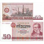 Billets banque Allemagne Est Pk N° 30 - 50 Mark