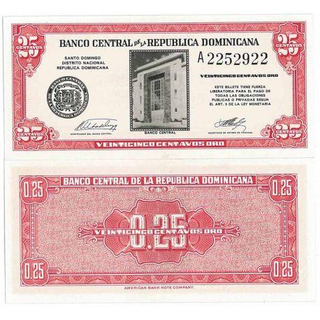 Billets de collection Billet de collection Dominicaine Repu. Pk N° 87 - 0,25 Centavos Billets de République Dominicaine 13,00 €