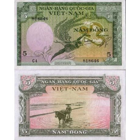 South Vietnam - Pk No. 2 - 5 ticket Dong