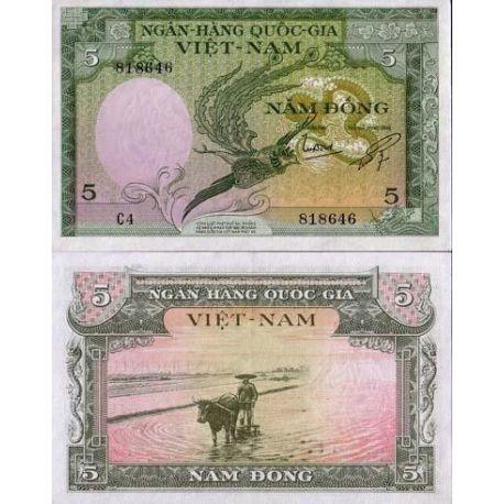 Vietnam Sud - Pk N° 2 - Billet de 5 Dong