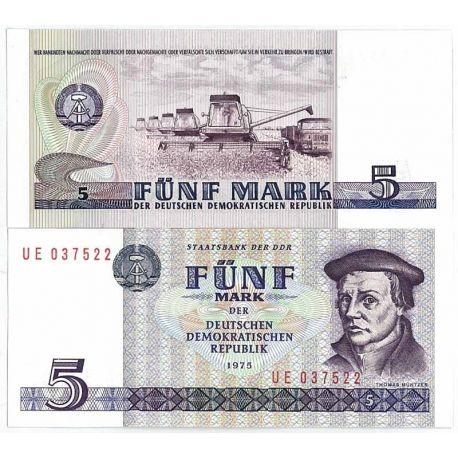 Billet de banque Allemagne Est Pk N° 27 - 5 Mark