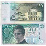 Billet de collection Estonie Pk N° 78 - 50 Krooni