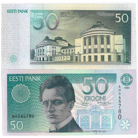 Estonie - Pk N° 78 - Billet de 50 Krooni