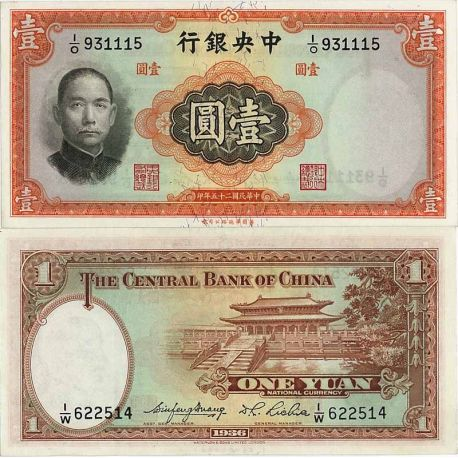 Chine - Pk N° 216 - Billet de 1 Yuan