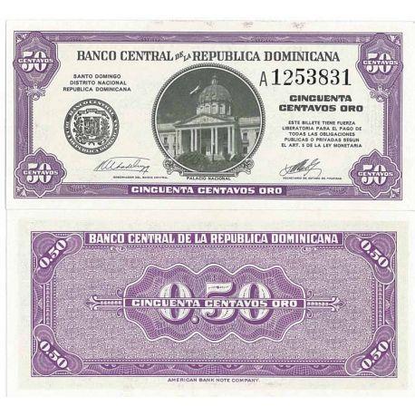 Billets de collection Billets de banque Dominicaine Repu. Pk N° 89 - 0,50 Centavos Billets de République Dominicaine 19,00 €