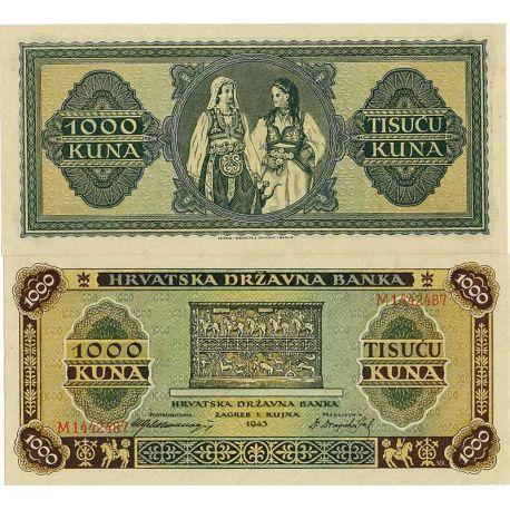 Croatie - Pk N° 12 - Billet de 1000 Kuna