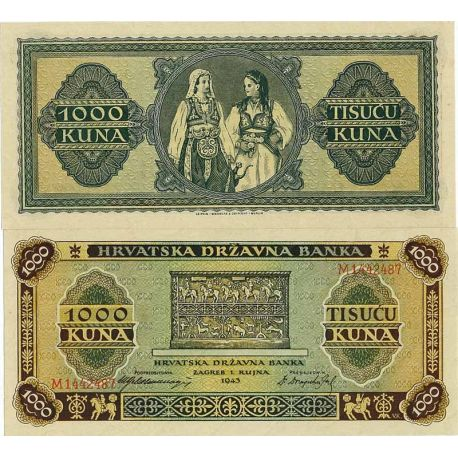 Billets banque Croatie Pk N° 12 - 1000 Kuna