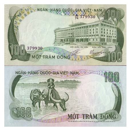 Billets de collection Billets collection Vietnam Sud Pk N° 31 - 100 Dong Billets du Vietnam Sud 3,00 €