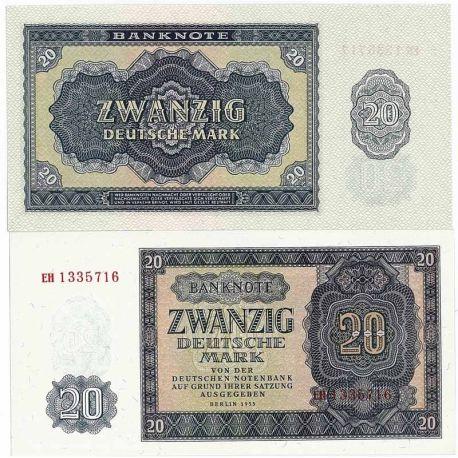 Allemagne Est - Pk N° 19 - Billet de 20 Mark