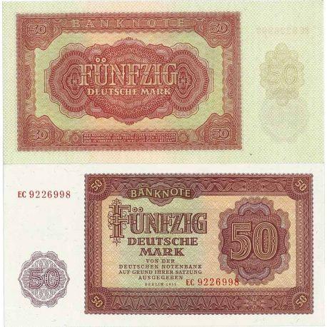 Billet de banque Allemagne Est Pk N° 20 - 50 Mark