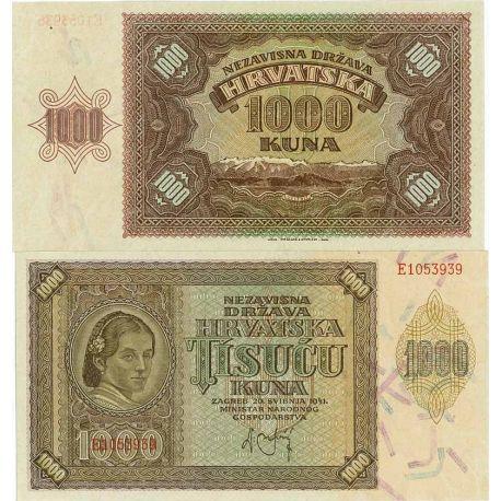 Billets de banque Croatie Pk N° 4 - 1000 Kuna