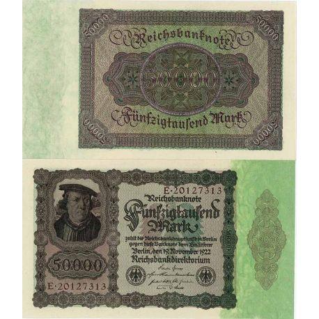 Billets banque Allemagne Pk N° 80 - 50 000 Mark