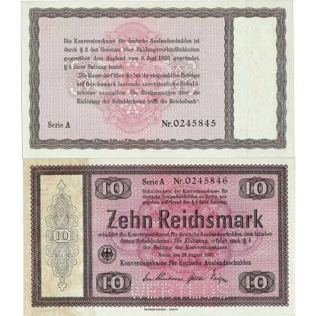 Billet de banque Allemagne collection de 10 Mark Pk N° 200