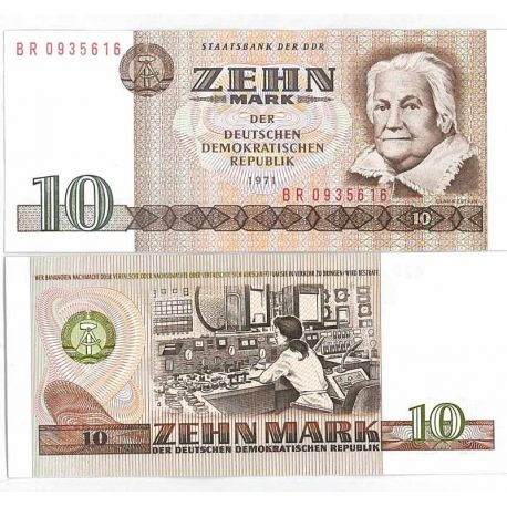 Billet collection Allemagne Est de 10 Mark Pk N° 28