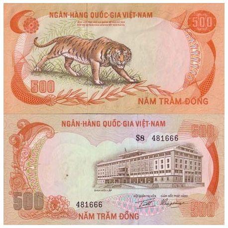Billets de banque Vietnam Sud Pk N° 33 - 500 Dong