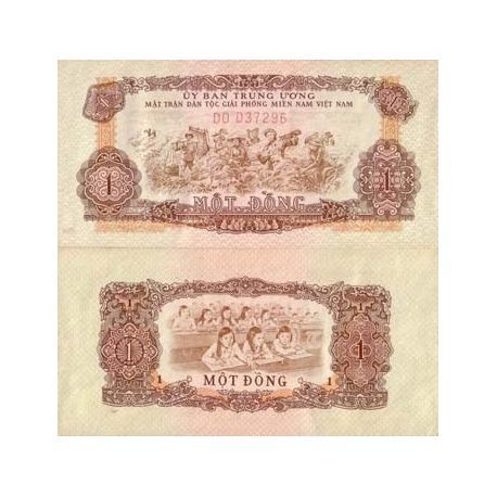 Billets de collection Billets collection VIETNAM SUD Pk N° 4 - 1 Dong Billets du Vietnam Sud 2,00 €