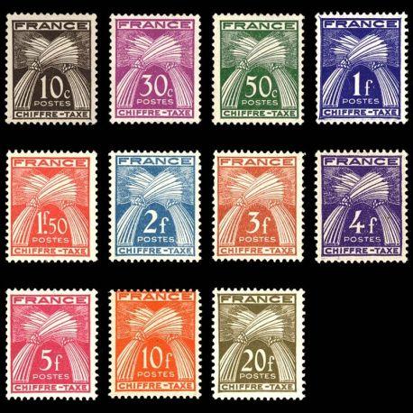 France Taxe N° 67/77 - Neuf(s) sans charniEre