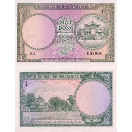 Vietnam Sud - Pk N° 1 - Billet de 1 Dong
