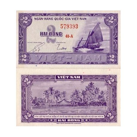 Billets banque Vietnam Sud Pk N° 12 - 2 Dong