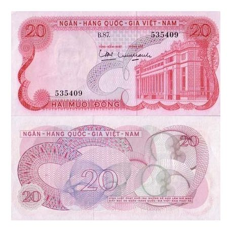 Billets de collection Billet de collection Vietnam Sud Pk N° 24 - 20 Dong Billets du Vietnam Sud 3,50 €