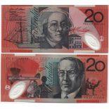 Schone Banknote Australien Pick Nummer 59 - 20 Dollar 2002
