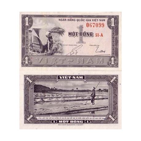 Billets banque Vietnam Sud Pk N° 11 - 1 Dong
