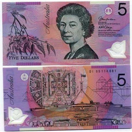 Australien - Pk Nr. 57-$ 5 Hinweis
