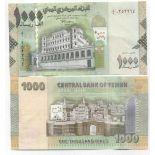 Billets de banque Yemen Pk N° 30 - 1000 Rials