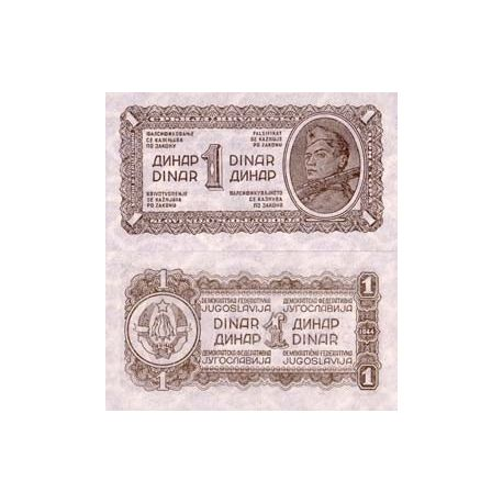 Billets de collection Billets collection Yougoslavie Pk N° 48 - 1 Dinara Billets de Yougoslavie 2,50 €